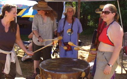 new drumkeeper Mary (center)