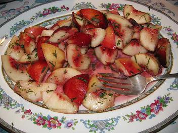 white nectarine salad