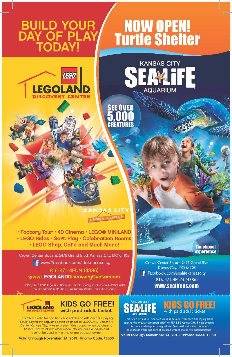 image regarding Legoland Printable Coupons identified as Kc aquarium discount codes : Mitsubishi motor vehicle specials nz