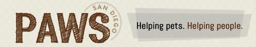 PAWS San Diego logo