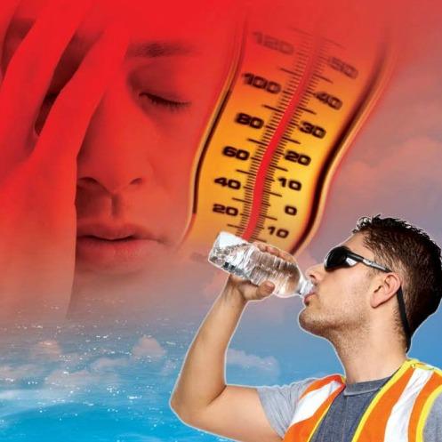 WSIB heat stress awareness poster