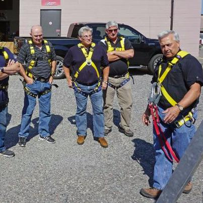 Working at Heights safety training session for mine rescue officers