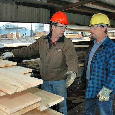 forestry sawmill worker and supervisor
