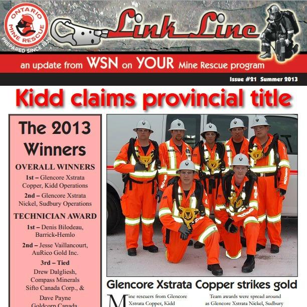 Link Line mine rescue newsletter Summer 2013