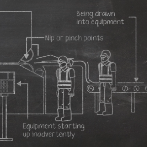 Video still from 'Safe Use of Machinery'