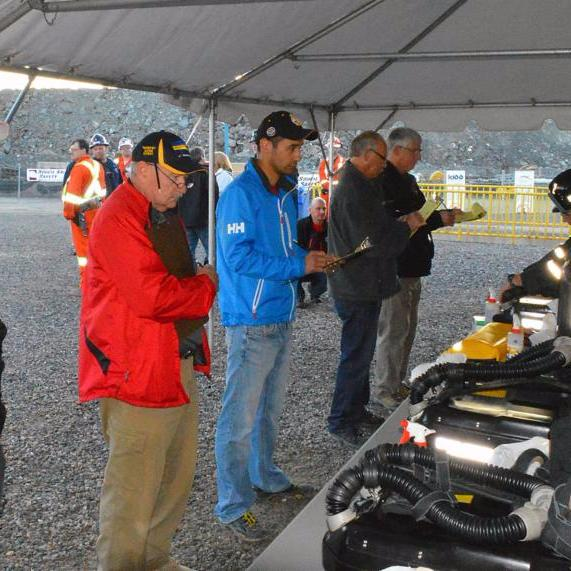 Mine rescue competition judges Timmins 2015