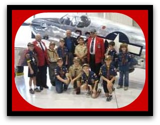 Scouts with Tuskegee Airmen