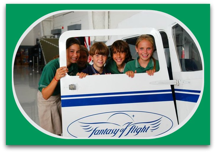 Kids in Cessna window