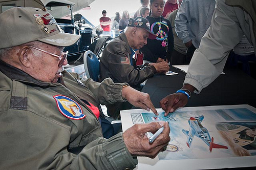 Photo of Meet and Greet with Tuskegee Airmen