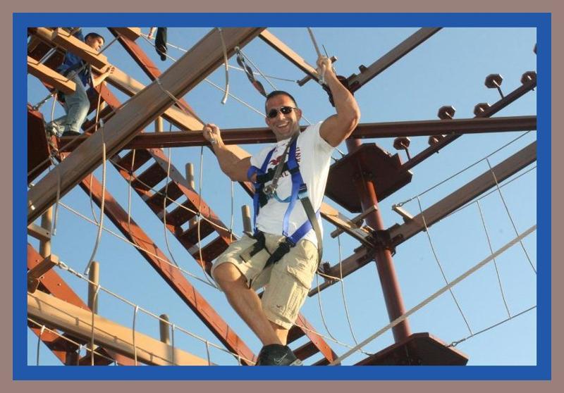 Happy man on ropes 093011