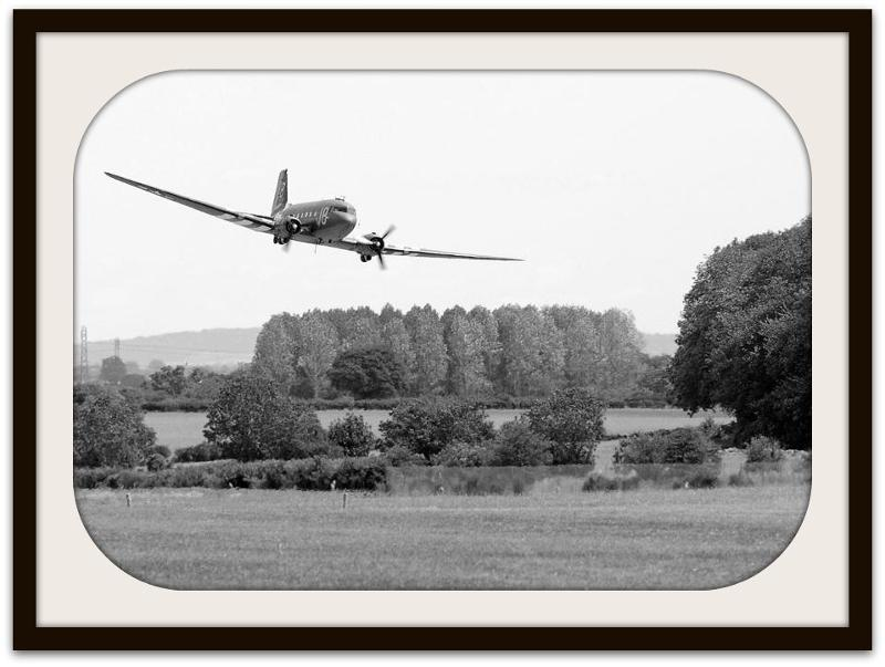 C-47 departing Kemble photo by Graham Wasey