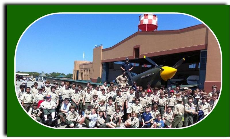 Boy Scouts with Kermit and Barrington 2011