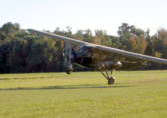 Stinson Tri-Motor On One Wheel