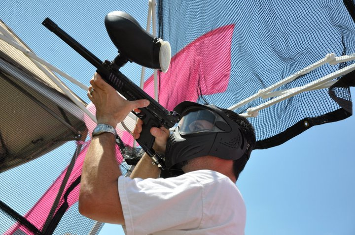 Paintballer Takes Aim at Breast Cancer