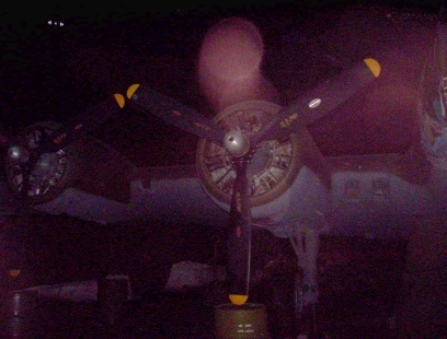 Photo of B-17 with orb