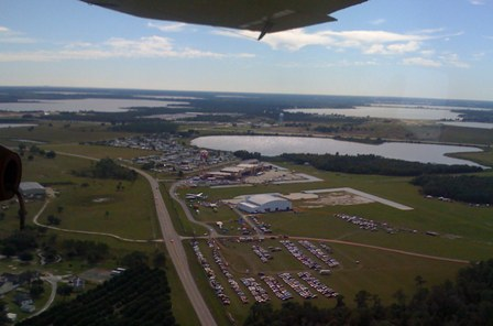 Aerial photo of Fantasy of Flight's grounds