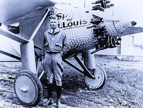 Lindbergh with The Spirit of St. Louis