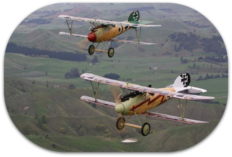 Two Albatros aircraft on patrol