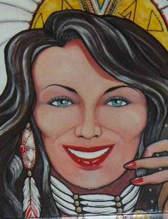 Teresa as Apache Princess