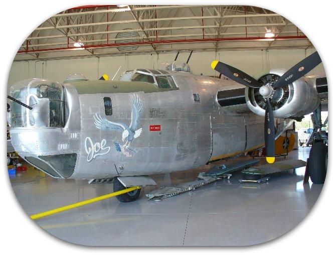 B-24 in Maint Hangar
