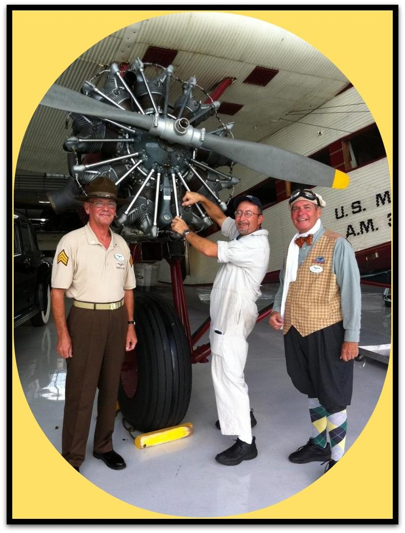 Outhouse Eddie and Jack at TriMotor engine