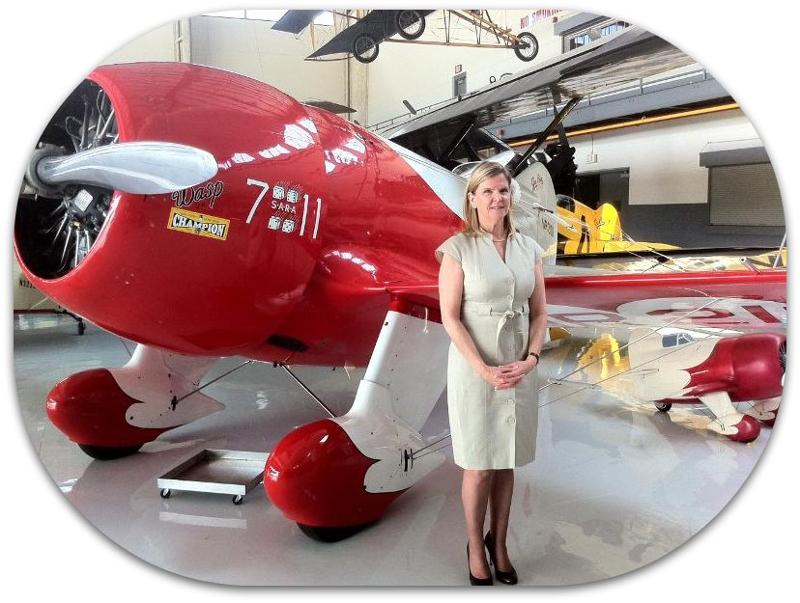 Jonna Doolittle Hoppes and Gee Bee R-2 April 2011