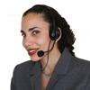Member Service Representative on telephone