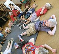 Children in Meditation at Oak Grove School