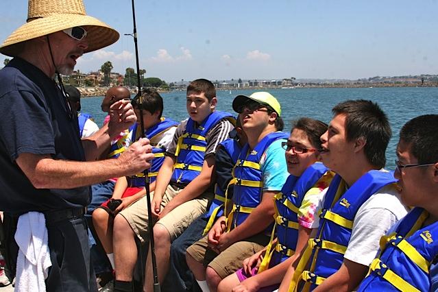 Group fishing instruction