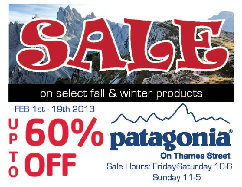 2013 Feb - Patagonia On Thames Sale