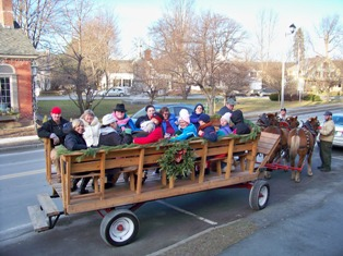 Zack's Place takes a Carriage ride through the Village of Woodstock