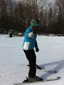Sarah on Ski's