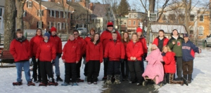 The 2012 Special Olympics Snowshoe Team