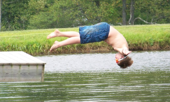 Diving into the Britton Pond