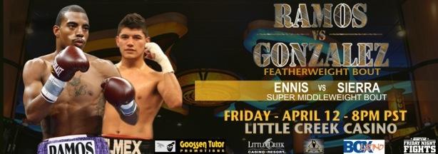 Rico Ramos vs. Oscar Gonzalez on EPSN on April 12th