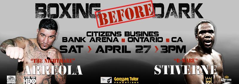 "Chris ""The Nightmare"" Arreola vs. Bermane ""B. Ware"" Stiverne on April 27th"