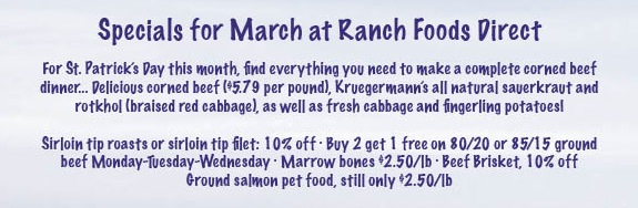Specials for March