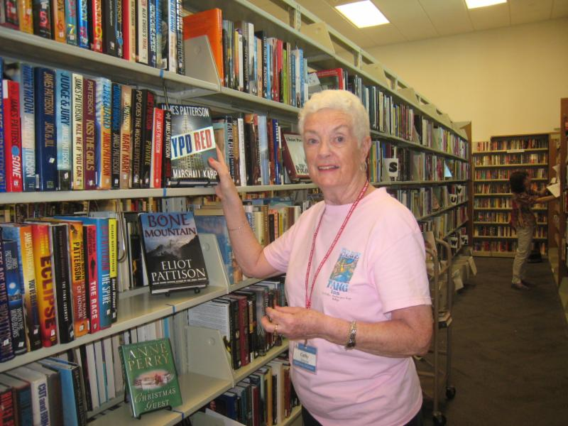 Cathy Largesse, Bookstore volunteer