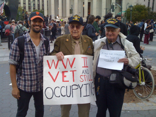 World War II veterans are still occupying