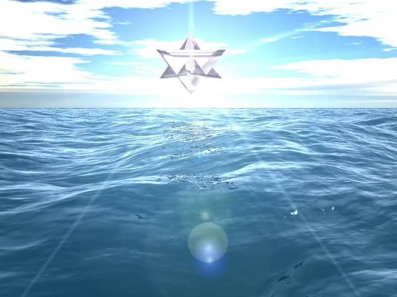 star tetrahedron over the sea