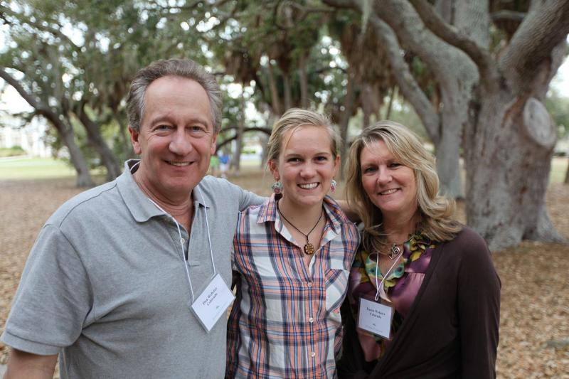 Lauren Webster '15 and parents