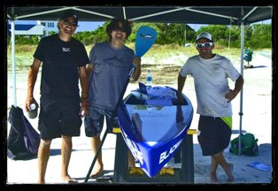 Jimmy Lewis crew with BLADE raffle board