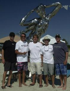 Davis Love, Mark Landis, Danny Johnson, Chuck hardin, Mac Barnhardt with Shiela, the event mermaid