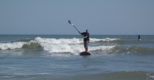 Danny surfs easy, nice waves at Goulds