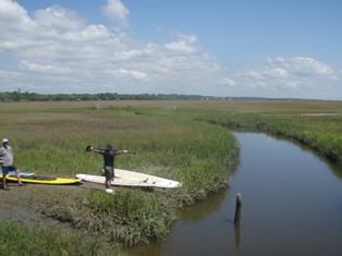 marsh SUP starting point