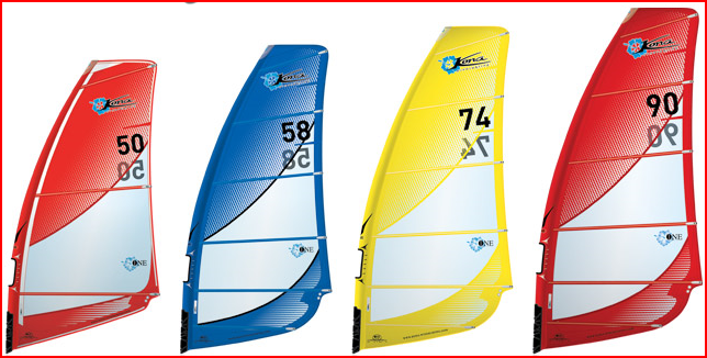 KONA one-Design sail rigs 5.0 to 9.0