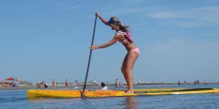 Kim James paddles in good form