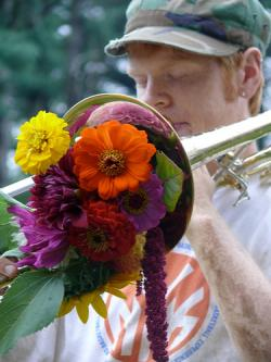 Horn with Flowers