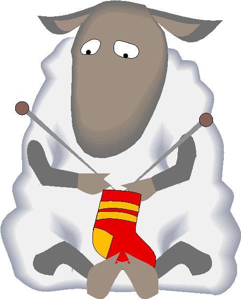 Knitting Sheep Clip-Art