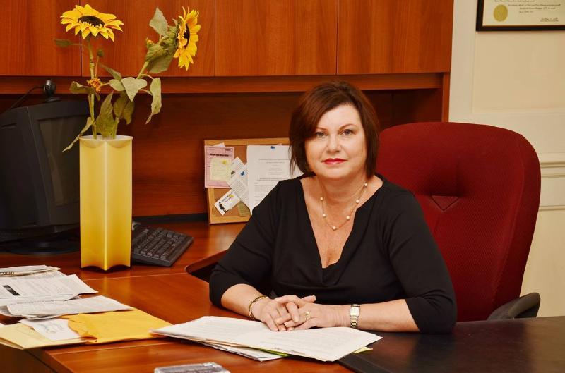 Faye at Desk